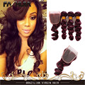 7A Brazilian Loose Wave Red Hair 3 Bundles Wine Red Burgundy Brazilian Human Hair Weave 99j Brazilian Virgin Hair With Closure