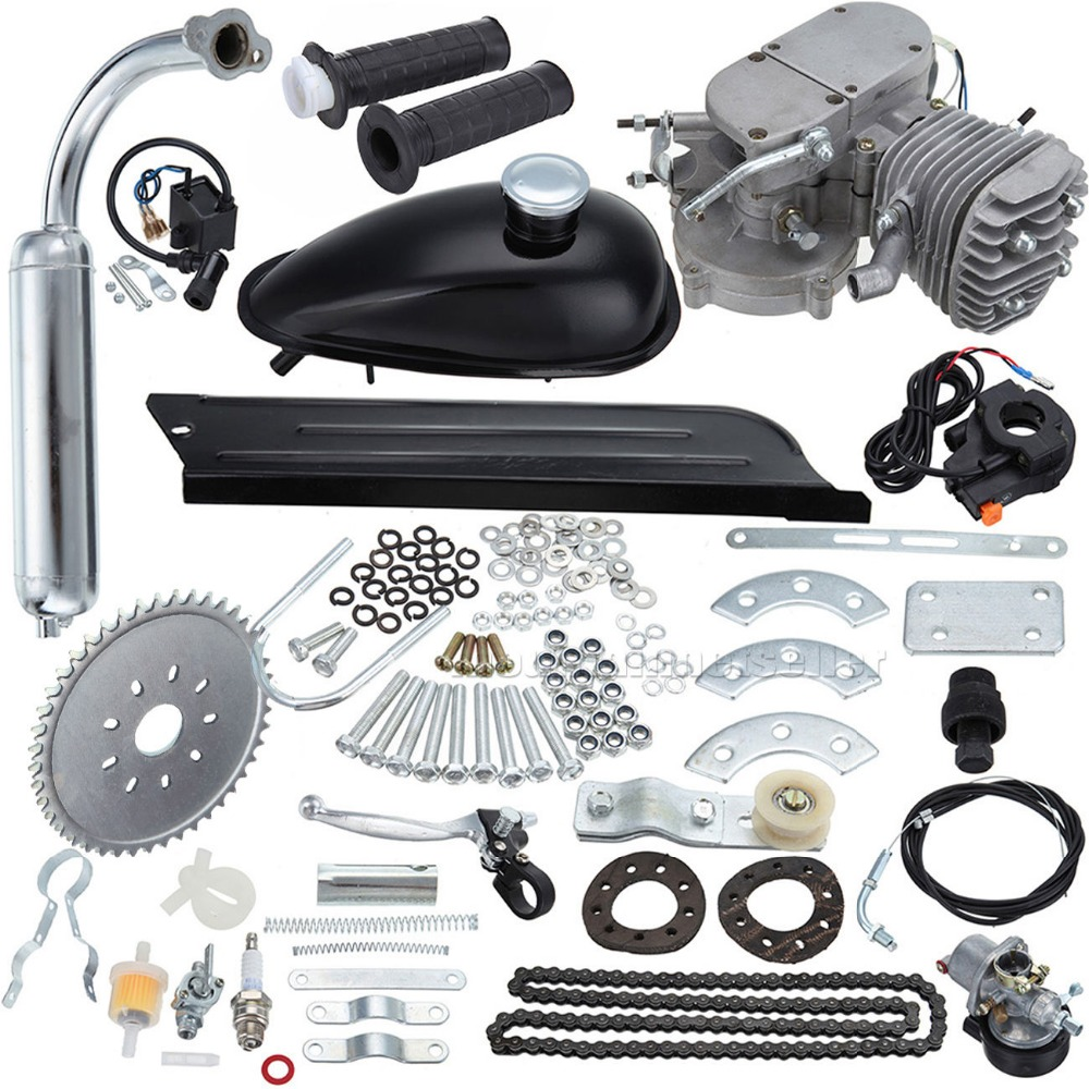 US $66 99 |80cc 2 Stroke Engine Kit Motorized Bicycle With Carburetor Coil  CDI Cable Tank-in ATV Parts & Accessories from Automobiles & Motorcycles on