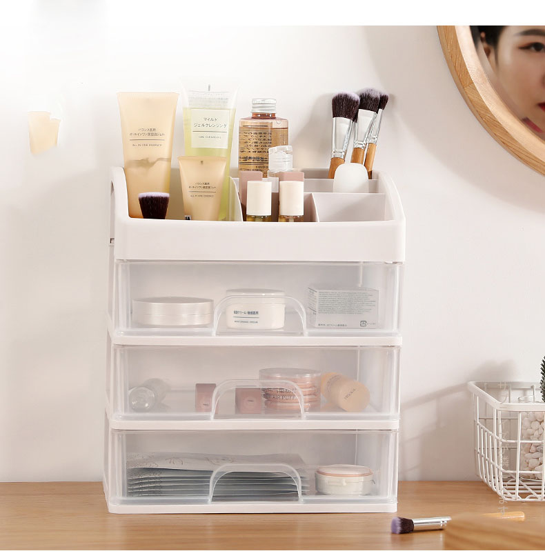 Plastic Cosmetic Storage Box to Organize Makeup with Drawers for Dressing Table of Women 9