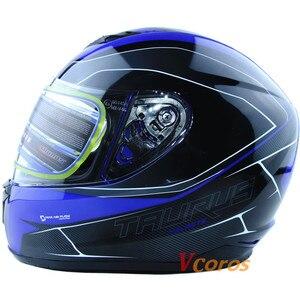 Image 3 - Vcoros neue ankunft XS größe motorrad helm winter volle gesicht racing helm capacete motoqueiro
