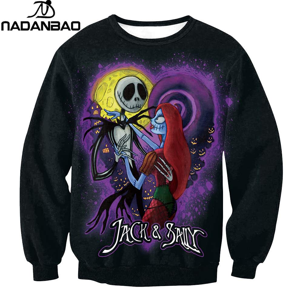 NADANBAO Brand The Nightmare Before Christmas Hoodies Sweatshirt ...
