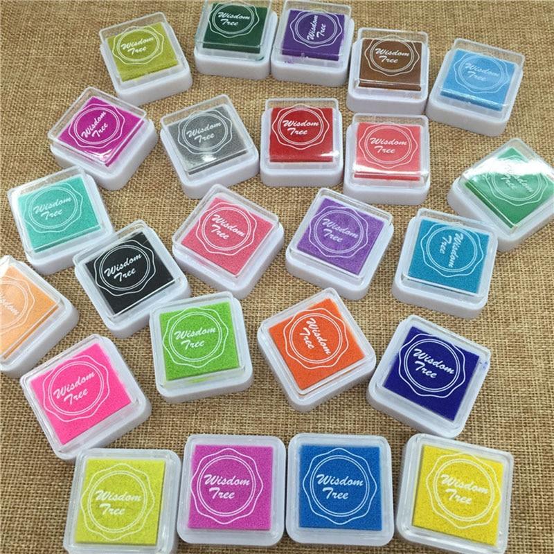 24 Adettakım Renkli Inkpad çocuk Diy Parmak Izi Boyama çamur Ev