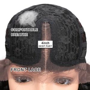 Image 5 - Perruque Lace Front wig 3 couleurs 26 et ombré Noble, perruque frontale à dentelle synthétique lisse, perruque blonde Cosplay pour femmes noires