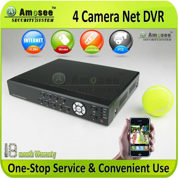 Economical Mini Size 4 Camera DVR H.264 Good Internet speed Multi-language CCTV AMS- H710V
