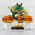 Dragonball Z Dragon Ball Figuras de Acción verde ShenRon shenron + 7 unids 4 cm Bolas de PVC PVC Figura de Acción de Colección modelo de Juguete