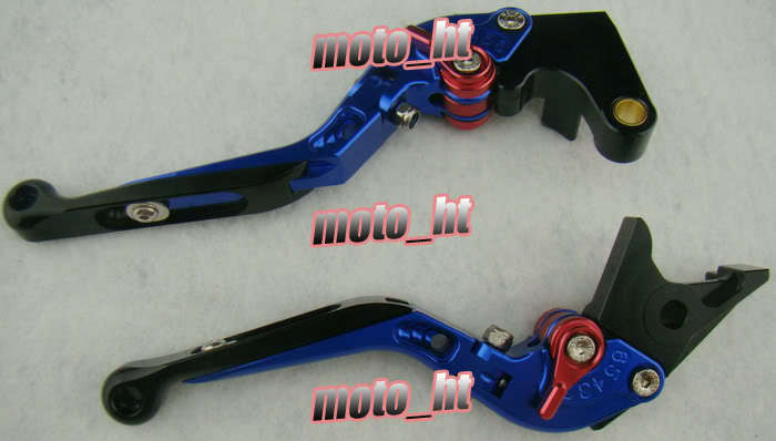 CNC Machined Foldable Brake Clutch Levers For YAMAHA 1999 2000 2001 YZF R1 Blue for yamaha yzf r6 1999 2000 2001 2002 2003 2004 yzf r1 2002 2003 fz1 fazer 2001 2005 cnc motorcycle brake clutch levers