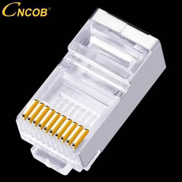 30pcs RJ48 RJ45 RJ50 FTP 10P10C Ethernet network cable connector
