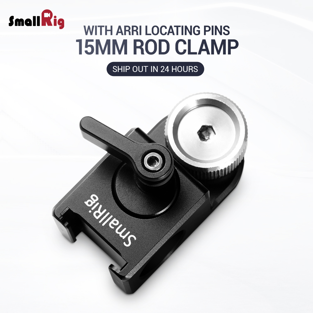 SmallRig DSLR Camera Clamp 15mm Rod Clamp with Arri Locating Pins for Monitor Microphone Attachment 2001SmallRig DSLR Camera Clamp 15mm Rod Clamp with Arri Locating Pins for Monitor Microphone Attachment 2001
