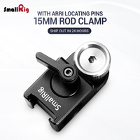 SmallRig DSLR Camera Clamp 15mm Rod Clamp with Arri Locating Pins for Monitor Microphone Attachment 2001