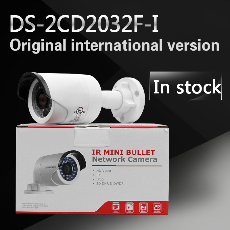 In stock International English version DS-2CD2032F-I 3MP mini bullet POE CCTV camera, IP security camera in stock international english version ds 2cd2942f is english version 4mp compact fisheye network cctv camera fisheye