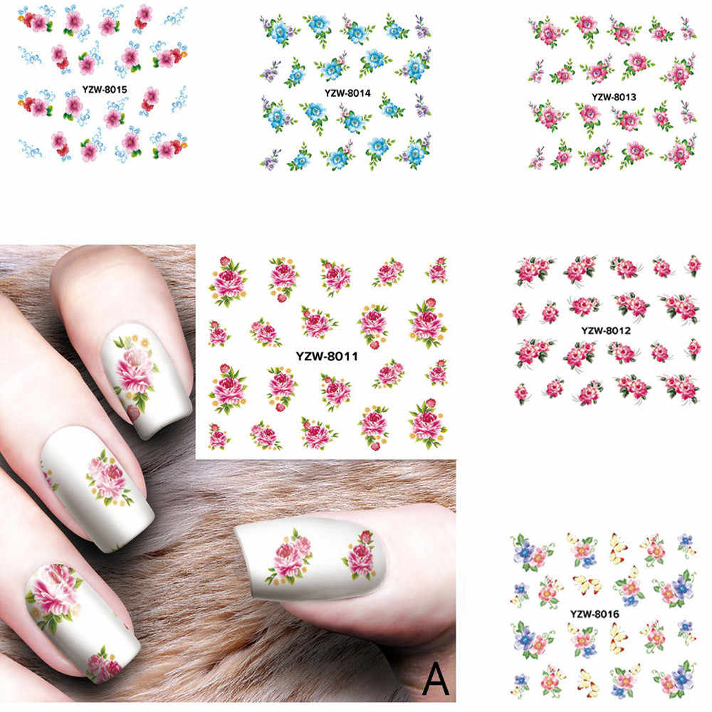 Nail Applique Adhesive Flower Rattan non-toxic study fashionable DIY Lace Design Nail art easy to match  Nail Sticker for party