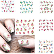 Nail Applique Adhesive Flower Rattan non-toxic study fashionable DIY Lace Design Nail art easy to match Nail Sticker for party(China)