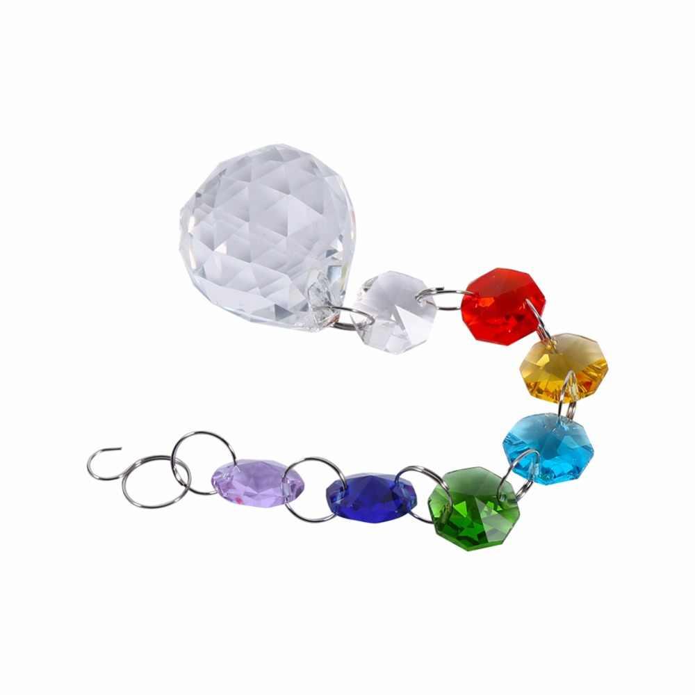 Подвесной хрустальный шар для светового окна ручной работы радужные кристаллы призмы шар люстра лампа Рождественский Декор