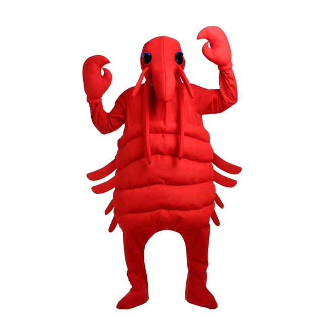Deluxe Red Adult Big Lobster Costume Mens Halloween Party Dress Up With A Pair Of Claws Male Unique Carnival Fancy Cosplay