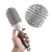 5pcs Different Size Roll Round Comb Barber Hair Salon Dressing Styling Hair Brush Shaping Barrel Equipment