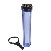 20 Clear Water Filter Housing 3/4 Brass Ports, Transparent Bowl, hold all 20x2.5 Standard Filters,include wrench