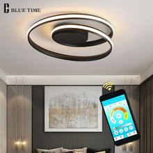 все цены на Surface Mounted Led Ceiling Light Input 110V 220V Modern Led Ceiling Lamp Black&White Living room Bedroom Dining room Luminaires онлайн