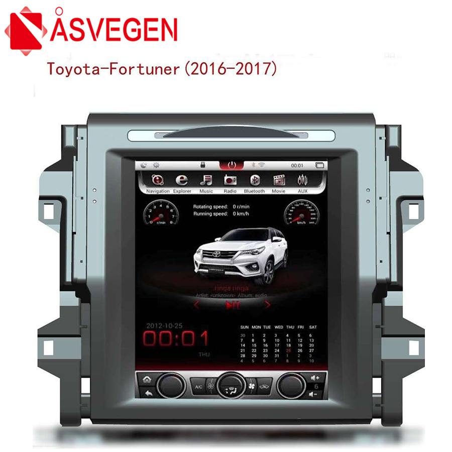 Asvegen Vertich 12.1'' 2G Ram Android 6.0 Quad Core Car DVD Radio For Toyota Fortuner 2016 2017 Multimedia Player GPS Navigation