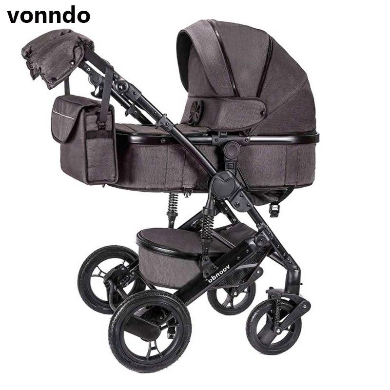 Vonndo del bambino passeggino 2in1 bluetooth passeggino bidirezionale di alta qualità ammortizzatore può sedersi qualità di trasporto in RU