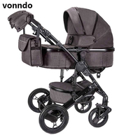 vonndo baby stroller 2in1 bluetooth stroller bidirectional high quality shock absorber can sit quality free in RU
