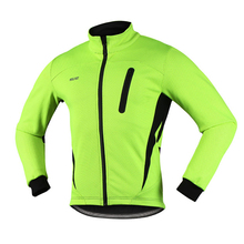 Thermal Cycling Jacket Winter Warm Up Fleece Bicycle Clothing Windproof Sports Coat MTB Bike Cycling Jersey