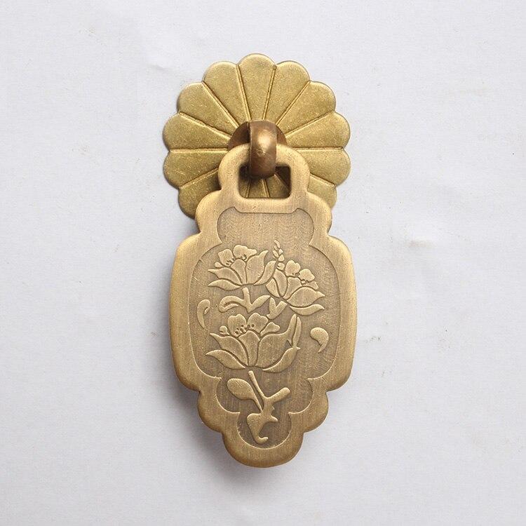 цена на flower simple drawer knob furniture hardware wardrobe shoe closet door single hole handle round cone Retro cabinet pull