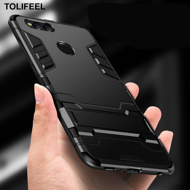 info for c036e 73ad2 TOLIFEEL For Huawei Honor 7X Case Silicone Cover Anti-Knock Plastic Robot  Armor Slim Phone Back Cases For Huawei Honor 7X Capa