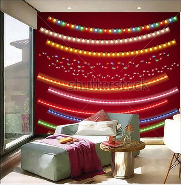 Die benutzerdefinierte 3D wandbilder, Weihnachten Elektrische Girlanden Set  für Feierliches Design tapeten, wohnzimmer sofa TV wand schlafzimmer ...