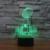 7 cores Do Feriado Atmosfera Decorativa Caçoa o presente Super Bowl Ilusion 3D Luz Da Lâmpada Luz CONDUZIDA Da Noite