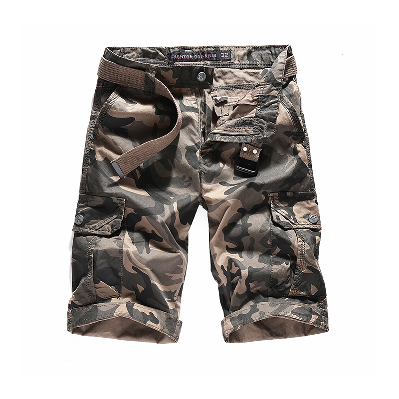 2018 Brand New Men's Camouflage Casual Cargo Shorts Cotton Loose Multi-pocket Tactical Shorts Male Fashion Army Trousers Outwear