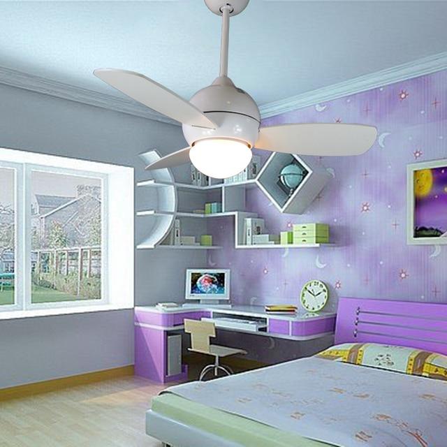 34 Zoll Kleine Deckenventilator Licht Mit Fernbedienung Weiß Kinder  Deckenventilator Mit Licht Schlafzimmer Esszimmer Fan