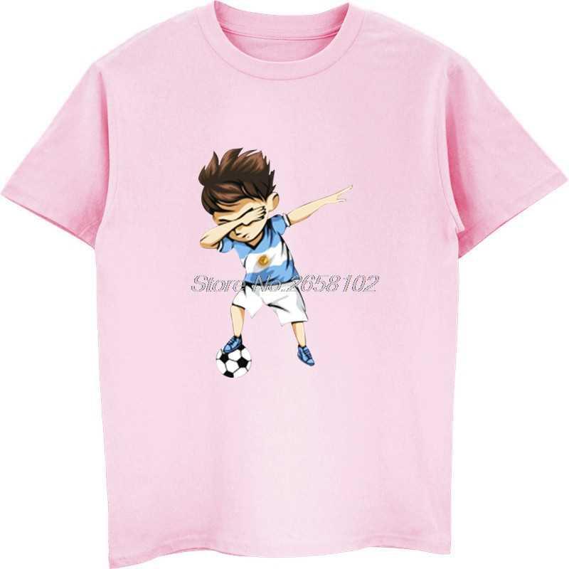 Camiseta de algodão de manga curta de menfunny masculino camiseta de hip hop nova camisa de algodão de dabbing soccerer argentina t camisa-futebolista argentino