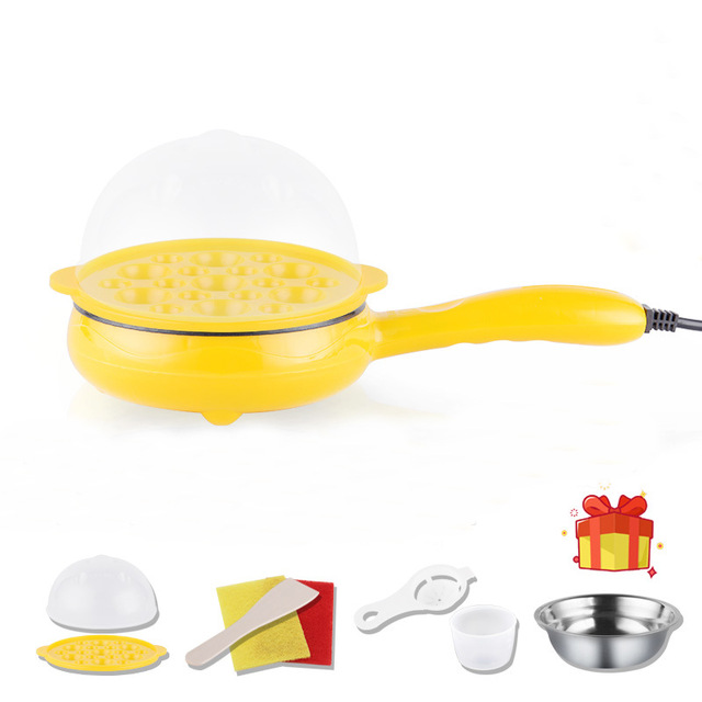 Multifunction Household Mini Egg Omelette Pancakes Electric Fried Steak Frying Pan Non-Stick Boiled Eggs Boiler Steamer household popcorn maker multifunction egg boiler steamer electric skillet mini omelette frying pan corn popper page 6