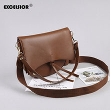 EXCELSIOR Quality PU Womens Bags Crossbody Stylish Composite Shoulder Bag Summer Spring Fashion Casual Saddle Two Straps