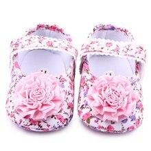 Infant Kleinkind Baby Mädchen Kinder Schuhe Erste Wanderer Floral Party Schuhe Weiche Wanderschuhe Neue Ankunft