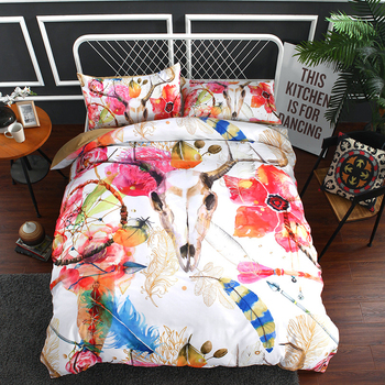5D Three pieces bedding American size children's home textile grinding wool polyester fiber no bed linen comfortable Dream Net