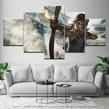 Canvas Painting Dream Shadow of the Tomb Raider game 5 Pieces Wall Art Painting Modular Wallpapers Poster Print  Home Decor цена и фото