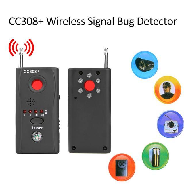 EU Plug CC308+ Wireless Signal Bug Detector Pinhole-proof Camera Eavesdropper Privacy Protector GPS Finder Tracker Device Finder