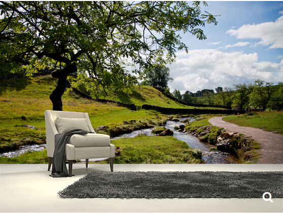 Custom natural landscape wallpaper,Beautiful Yorkshire Dales,3D photo for the living room bedroom kitchen waterproof wallpaper.