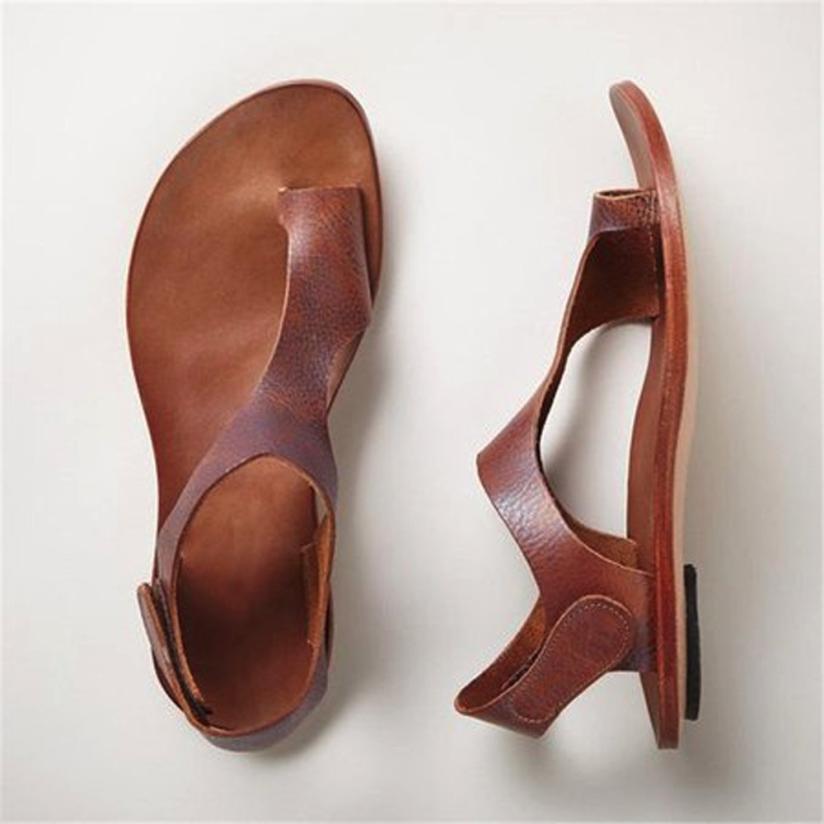 Femme Plage D'été Plates Rome Sapatos Femmes khaki 2018 Brown Décontracté Chaussures Solide Feminino Sandales UqnTwnFa