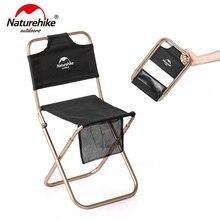 Naturehike Портативный Сверхлегкий небольшой кемпинг стул открытый кемпинг стул складной стул рыбалка пляж алюминиевый сплав ChairNH18M001-Z