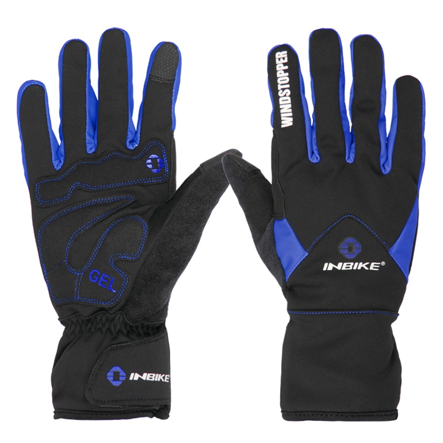 windproof 3MM gel pad winter cycling bicycle gloves touch screen outdoor sport full finger gloves mountain mtb bike gloves men