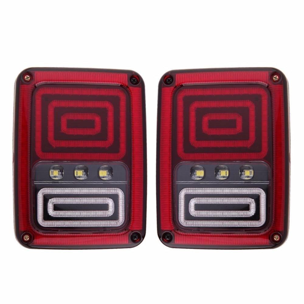 2шт светодиодный тормоз обратного хвост огни с Европейским стандартом PlugsCar света замена лампочки для Wrangler ВИЛЛИСА