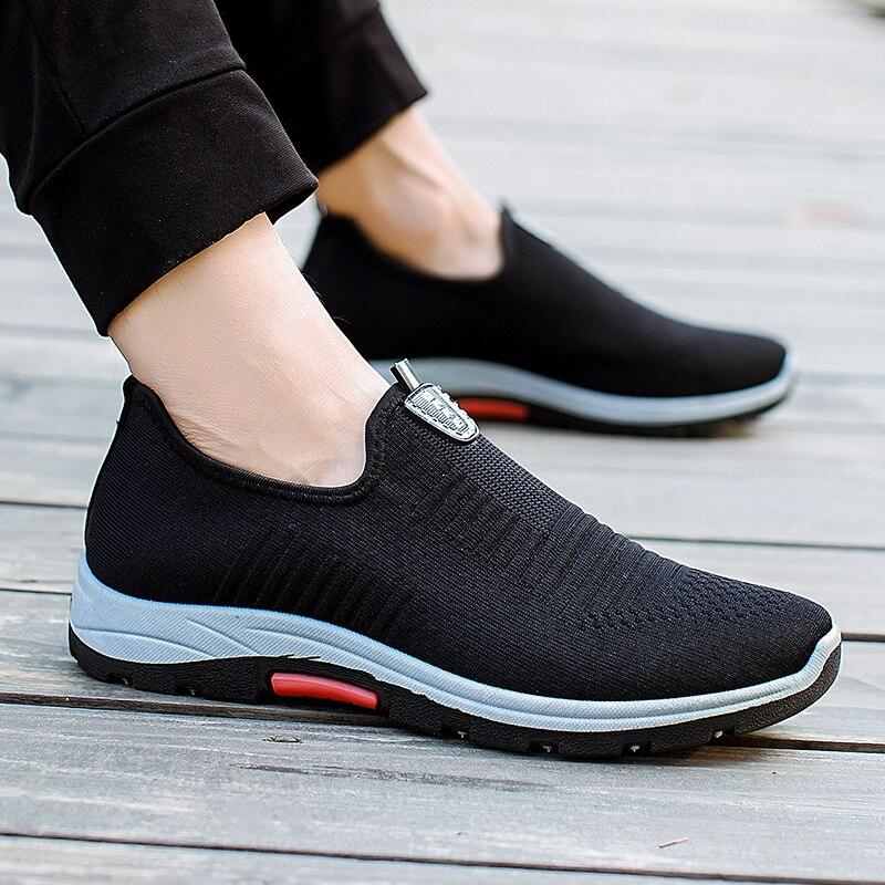 709b045a2b Homem Sapatos Casuais Outdopor Tênis Da Moda Para Os Homens Marca de Moda  Respirável Flats Tenis Masculino Adulto Verão Andar Calçado