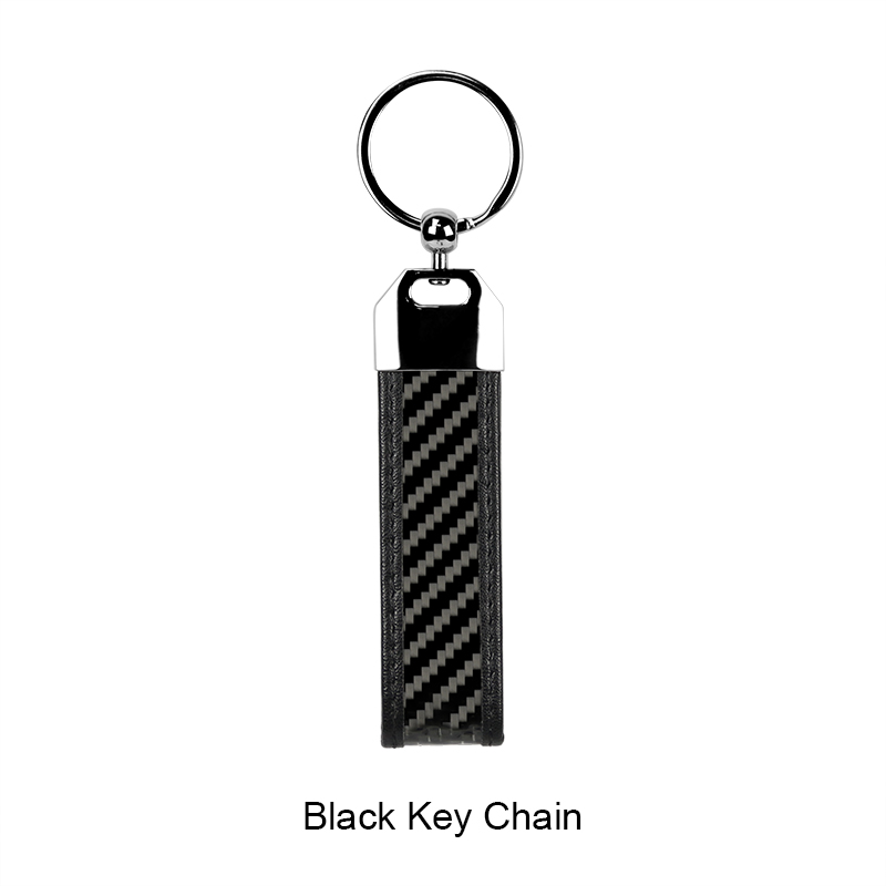 2018 Flexible Real Carbon Fiber Key Chain Fashion Key Holder With Silver High Quality Key Ring.