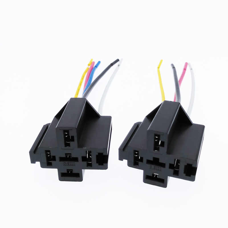 Support de Base de montage relais 5 broches pré-câblé 12 V 40A longueur de ligne 12 cm