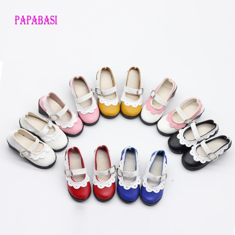 """7.8 ס""""מ צבעים שונים עקבים גבוהים נסיכה נעליים עבור BJD 60cm נעליים בובה, 1/4 בובה אביזרים עבור 16 אינץ בובות נעליים"""