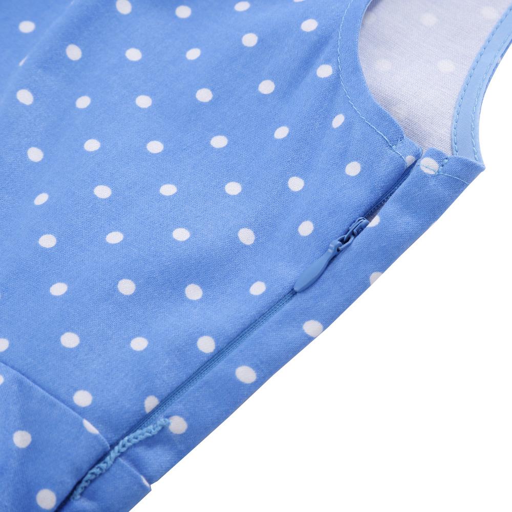 Grace Karin Flower Girl Dresses for Weddings 2017 Sleeveless Polka Dots Printed Vintage Pin Up Style Children's Clothing 24