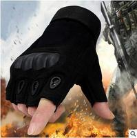 OK Brand Army Bicycle Outdoor Tactical Gloves Sprots Gym Paintball Airsoft Fingerless Hard Carbon Knuckle Half Finger Gloves