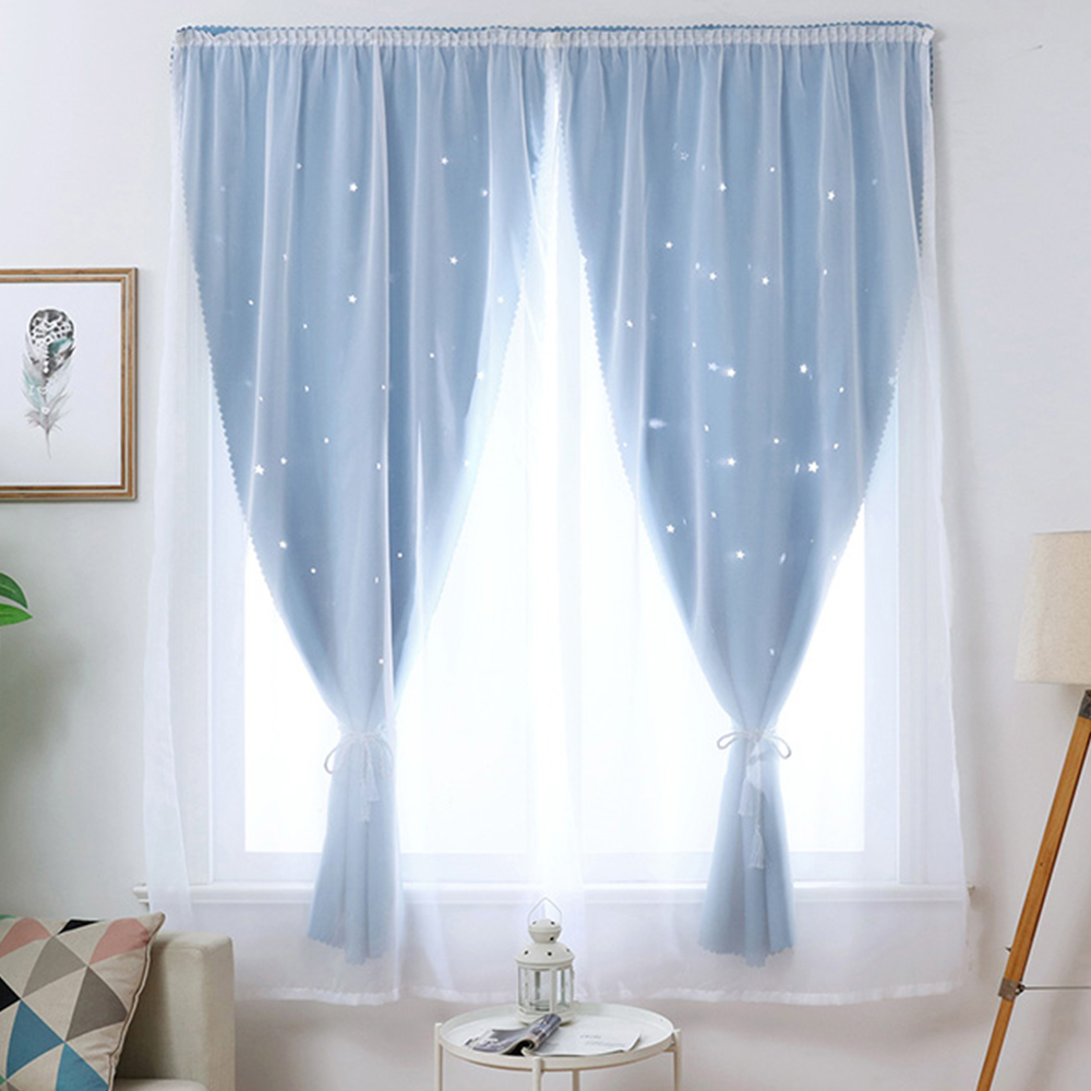 Dreamy Sunny Window Screening For Baby Girl Bedroom Solid Self